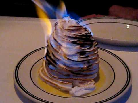 Flambé Alaska Dessert Food